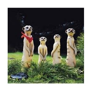 Meerkat solar light garden ornaments